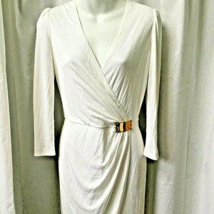 EMILIO PUCCI White Dress Size 6 US Wrap Bodice New